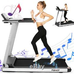 2.25HP Foldable Treadmill WithBluetooth Speaker 2-in-1 Running Machine Fitness