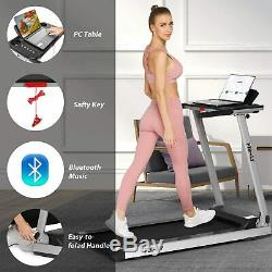2.25HP Foldable Treadmill withBluetooth Speaker Running Machine 2-in-1 Home-Gym//