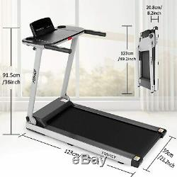 2.25HP Folding Treadmill WithBluetooth Speaker Running Machine 2-in-1 Home-Gym