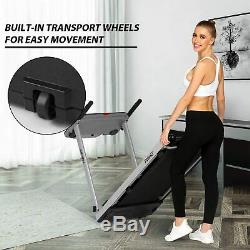 2.25HP Folding Treadmill with Bluetooth Speaker, 2 in 1 Running Machine Home Gym