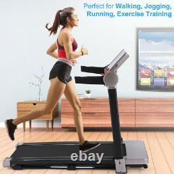 2200W Folding Treadmill Electric Motorized Running Machine Wide Multi-Layer Belt