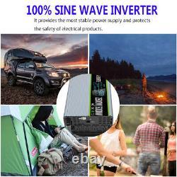 2500W 5000W DC 24V To AC 110V 120V Power Inverter Pure Sine Wave AC Converter US