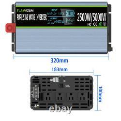 2500W 5000W Power Inverter 24V DC To AC 110V 120V Pure Sine Wave Truck Converter