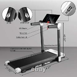 3.0HP Electric Treadmill Motorized Folding Running Machine 300LBS Large LCD