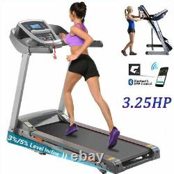 3.25HP Electric Treadmill Folding Incline Heavy Duty Running Machine with Gift