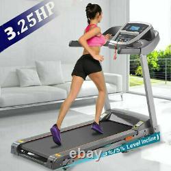 3.25HP Folding Electric Treadmill Incline Running Machine APP Control +FREE GIFT