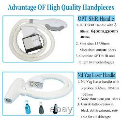 3 in1 SPA SHR OPT Elight IPL Permanent Hair Removal YAG Laser Tattoo Removal