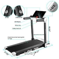 3HP Electric Folding Treadmill Fitness Large LED Display 12 Preset Programs, HOME