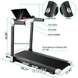3HP Electric Folding Treadmill Running Machine 12 Preset Program Easy Assembly