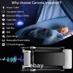 3HP Folding Treadmill Home Gym Electric Running Machine 12Pre-Programs-Lower Noi