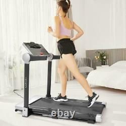 3HP Folding Treadmills Home Under Desk Electric Treadmill Workout 12 Pre-Program