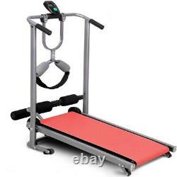 4 in 1 Folding Treadmill Running Jogging Machine Gym Fitness Mechanical Treadmil