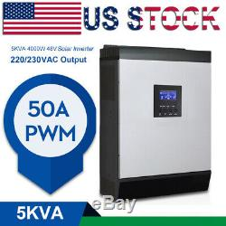 5000W Hybrid Solar Inverter Built-In PWM 50A Solar Charge Controller 220V DC48V