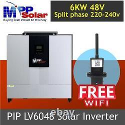 6000w 48v Split phase 110v/220v Solar Inverter 80A mppt solar charger FREE WIFI