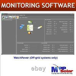 6000w 48vdc 120v/208V/240V Split phase Solar inverter 80A MPPT charger FREE WIFI