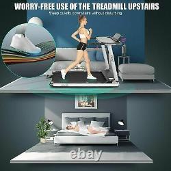 600W Folding Electric Treadmills Running Machine with Desk&Bluetooth mer20