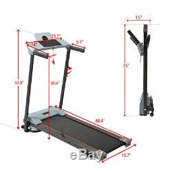 600W Folding Treadmill Electric Motorized Audio System Fitness Running Machine