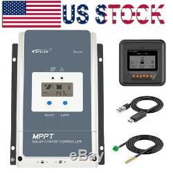 60A EPEVER MPPT Solar Charge Controller Regulator 12/24/36/48V PV150V With MT50
