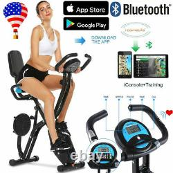 ANCHEER#Choice-3IN1 Stationary Upright Folding Exercise Bike Workout Cycling US