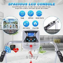 ANCHEER Electric Treadmills Folding Home Walking Running Machine With LCD Monitor