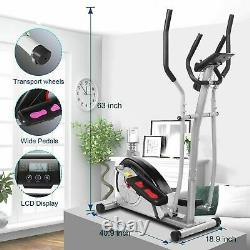 ANCHEER Elliptical Exercise Machine Fitness Trainer Cardio Workout Home Gym NEW