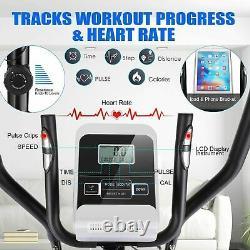 ANCHEER Magnetic Elliptical Exercise Fitness Training Machine Cardio Mute Quiet
