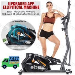 ANCHEER Magnetic Elliptical Exercise Fitness Training Machine Home Cardio Mute. /