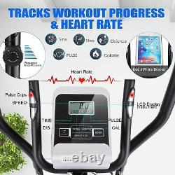 ANCHEER Magnetic Elliptical Exercise Fitness Training Machine Home Cardio Mute