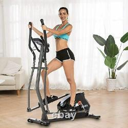 ANCHEER Magnetic Elliptical Machine Powerful Trainer Exercise with LCD Monitor