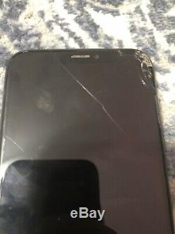 APPLE iPhone X 64GB Space Gray (Sprint) Cracked Screen No LCD/Screen Display