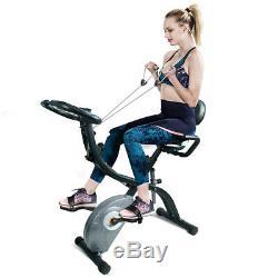 ATIVAFIT Foldable Exercise Bike Magnetic Stationary Upright Bike Indoor Cycling