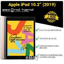 Apple iPad 10.2 2019 -32/128GB- WiFi/4G (UNLOCKED/SIM FREE) Latest Model Tablet