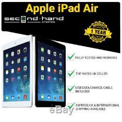 Apple iPad Air (1st Gen) 16/32/64/128GB 9.7in Wi-Fi or Cellular 4G Unlocked