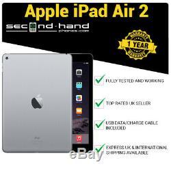 Apple iPad Air 2 16GB Wi-Fi 9.7 Retina Space Grey 12M Warranty Good Condition