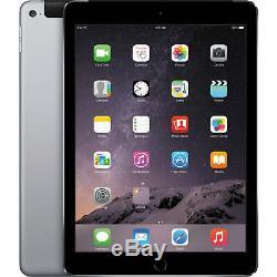 Apple iPad Air 2 16GB Wi-Fi Cellular 4G Unlocked 9.7 Retina Space Grey Grade A