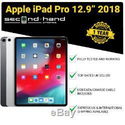 Apple iPad Pro 12.9 (3rd Gen 2018) 64/256/512GB/1TB Wi-Fi or 4G Unlocked