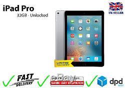 Apple iPad Pro 9.7 32GB WiFi Retina Unlocked iOS Grade A Space Grey