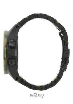Authentic Nixon Unit SS Matte Black/Camo Watch New in Box! A360 1428 A3601428