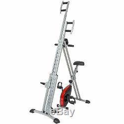 BCP 2 in 1 Vertical Climber Machine and Exercise Bike Black/Gray