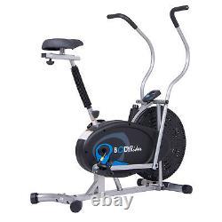 Body Flex Sports Body Rider Upright Gel Seat Fan Bike, Looped Pedals (Open Box)