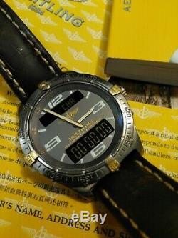 Breitling Aerospace Chronometer F75362 18k & Titanium Chrono WithBox & Papers