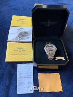 Breitling Aerospace Titanium and 18K Yellow Gold Model F65062 Just serviced