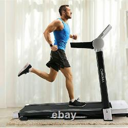 CAROMA 3.0 HP Electric FoldableTreadmill Home Running Machine Large LCD Display