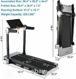 CAROMA 3.0HP Electric Treadmill Folding Running Machine with Large LCD Display
