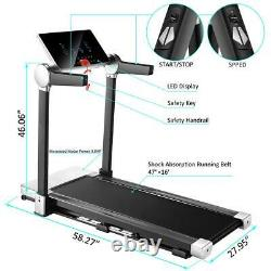 Caroma Folding Treadmills for Home Use 3.0HP Electric Treadmill withBMI Calculator