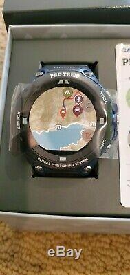 Casio Pro Trek Smart Watch Outdoor GPS Sports Watch WSD-F20A-BU Google Wear OS