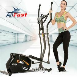 Compact Magnetic Elliptical Exercise Fitness Training Machine Cardio Quiet Home