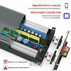 DC 12V to 110V AC Car Power Inverter 2000With4000W PURE SINE WAVE Car Converter RV