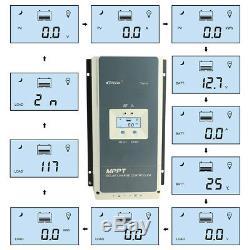 EPEVER MPPT 60A 80A 100A Solar Charge Controller Regulator 12/24/36/48V PV 150V