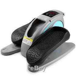 Electric Elliptical Machine Trainer Desk Elliptical with Built in Display Monitor